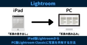 iPad版LightroomからPC版Lightroom Classicに写真の編集データを共有する方法